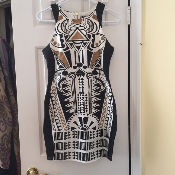Rosebullet Aztec party dress-exposed zipper size M The perfect party dress- sexy slim fitting- in great condition. Listed as size 12 but fits like a M/L. Loose seams on one side but barely noticeable. Rosebullet Dresses
