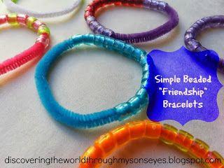 Simple beaded friendship bracelet