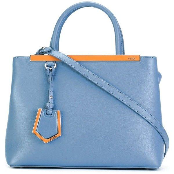 Fendi 2jour Bag ($1,725) ❤ liked on Polyvore featuring bags, handbags, light blue, fendi tote bag, fendi, blue totes, tote handbags and tote purses
