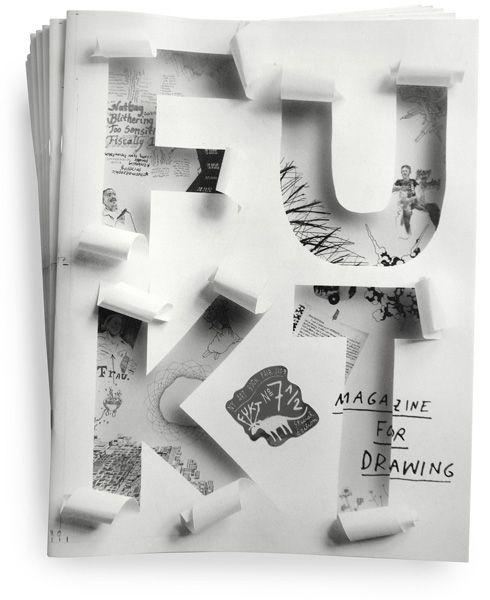 Typeverything.com  Fukt Magazine cover by Ariane Spanier.