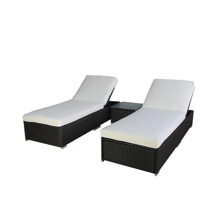 Amazing BroyerK 3 Piece Outdoor Rattan Lounge Patio Furniture Set By BroyerK