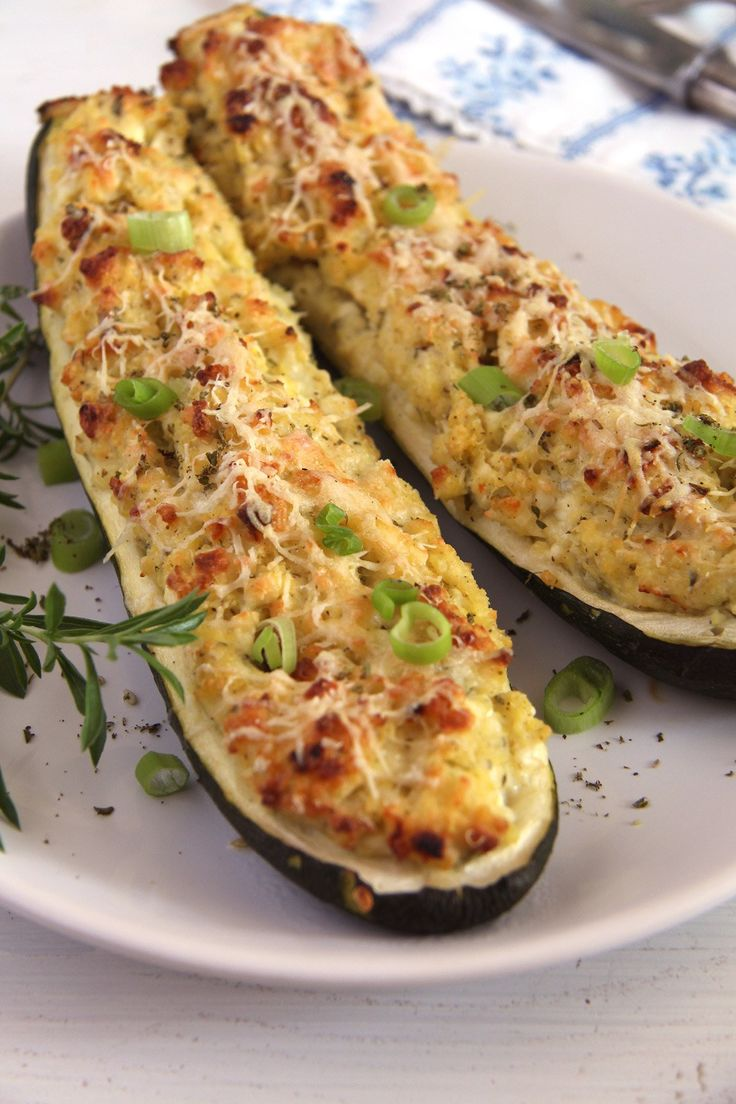 Zucchini with Millet and Cheese