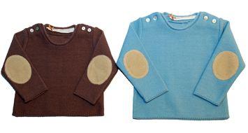Suéter con coderas para bebés y niños www.yosolito.es
