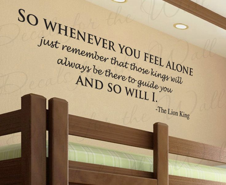 Lion King So Whenever You Feel Alone Disney Mufasa Girl or Boy Room Kid Baby Nursery Vinyl Wall Decal Quote Sticker Lettering Art Decor B87. $22.97, via Etsy.