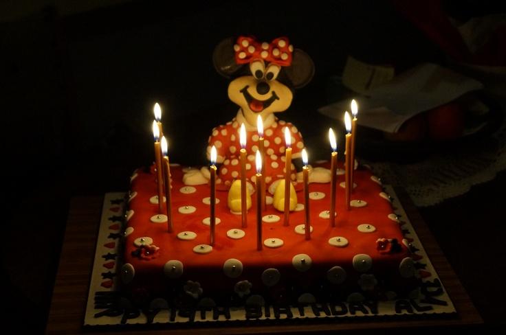 Alyce's birthday cake