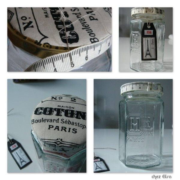 Bocal hediard paris cartonnette ouatine tissu galon bouton une petite couche de colle une - Rever de faire une fausse couche ...