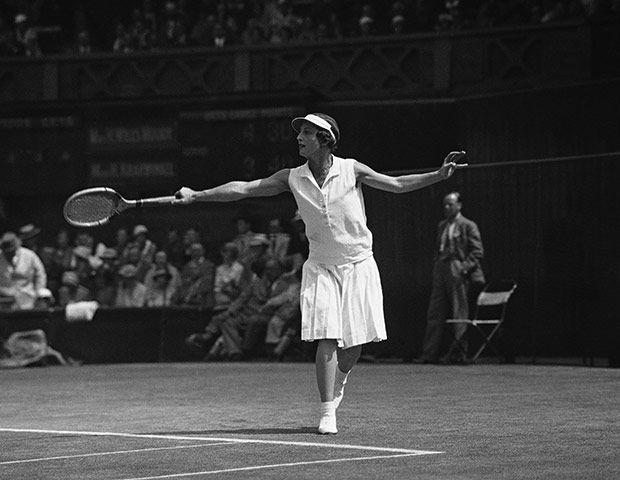 Helen Wills Moody - 1930's Wimbledon semi finals match.
