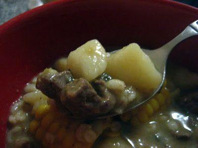 Sopa de Cebada con Carne de Res: Beef and Barley Soup