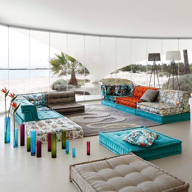 22 best mah jong images on pinterest canapes couches - Canape roche bobois kenzo ...
