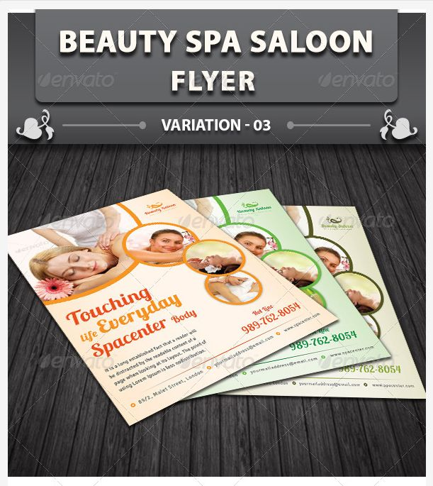 13 Spa & Beauty Saloon Tri-Fold Brochure PSD Template