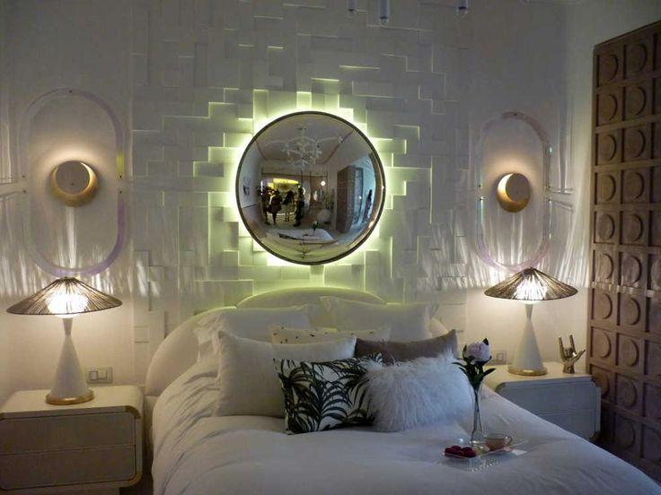 Дизайн спальни, 3D панели на стене (Orac Decor)