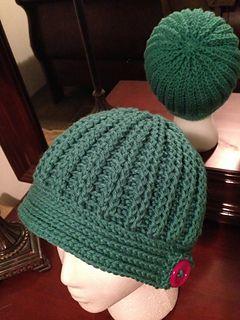 Ravelry: Ribbed Crochet Hat pattern by Kay C Fulmer
