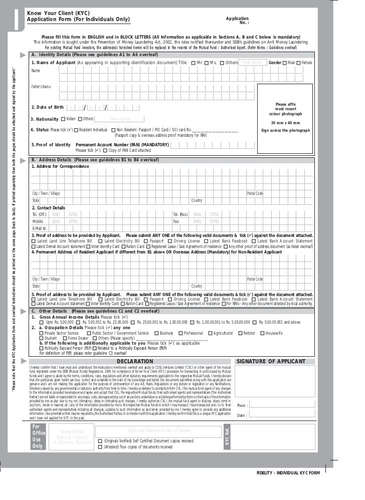 KYC Forms for Gas Connection Oil and Gas Pinterest - passport renewal application form