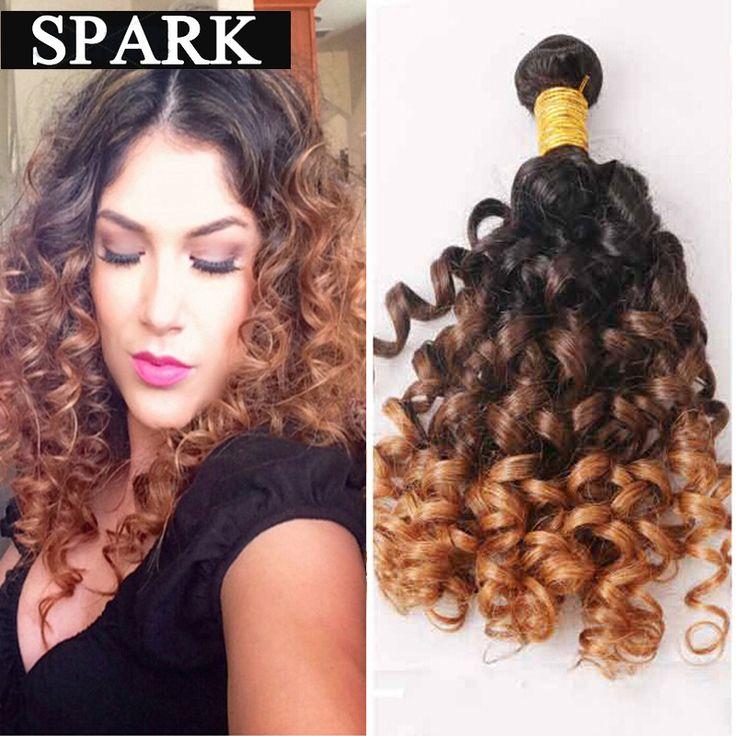 Brésilienne Vierge Cheveux Jerry Spirale Curl Ombre Cheveux Brésiliens Jerry Curl Boucles Bondissantes Humaine Cheveux Bouclés 3 Faisceaux Crépus Bouclés SP16