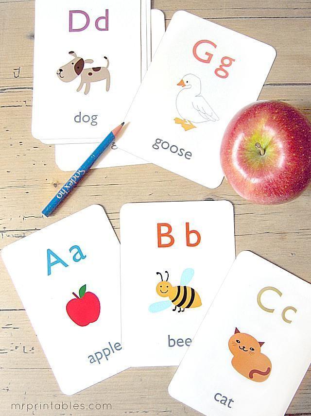 13 Sets of Free, Printable Alphabet Flash Cards: Free, Printable Alphabet Flash Cards from Mr. Printables