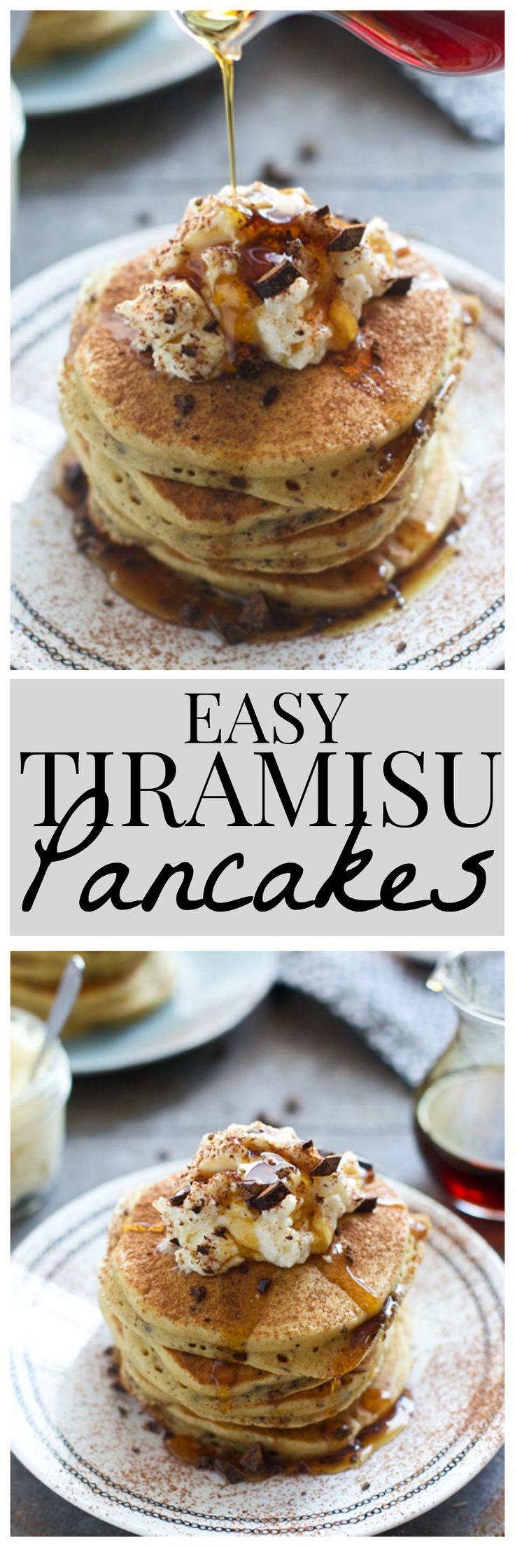Tiramisu Pancakes with Mascarpone Cream