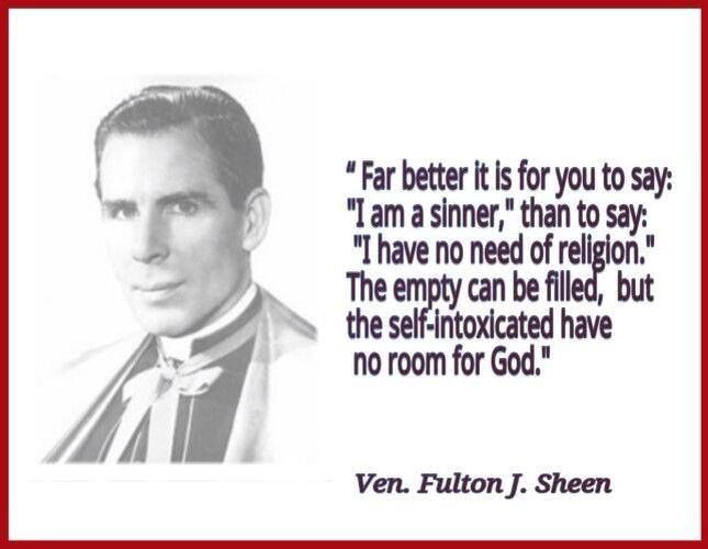 Bishop Sheen Quotes: 72 Best Fulton Sheen Quotes Images On Pinterest