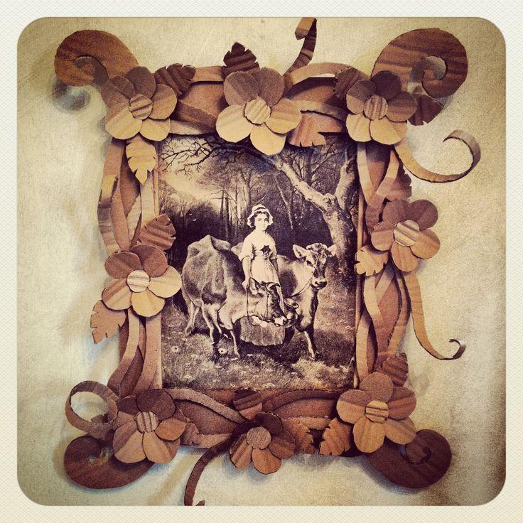 Cute cardboard picture frame!