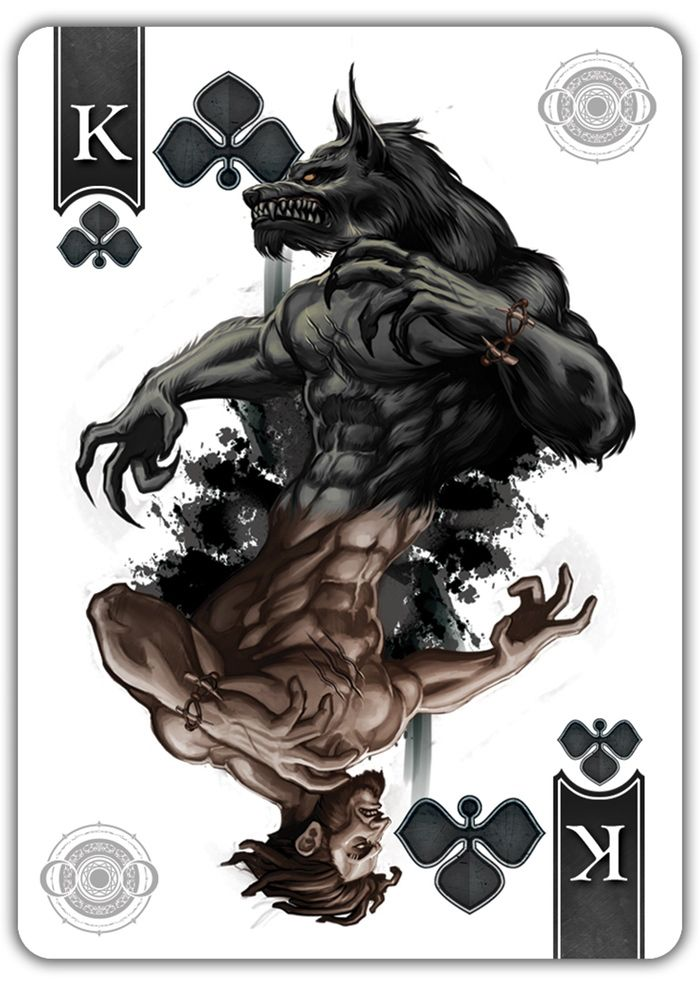 from the FULL MOON deck by Scott King
