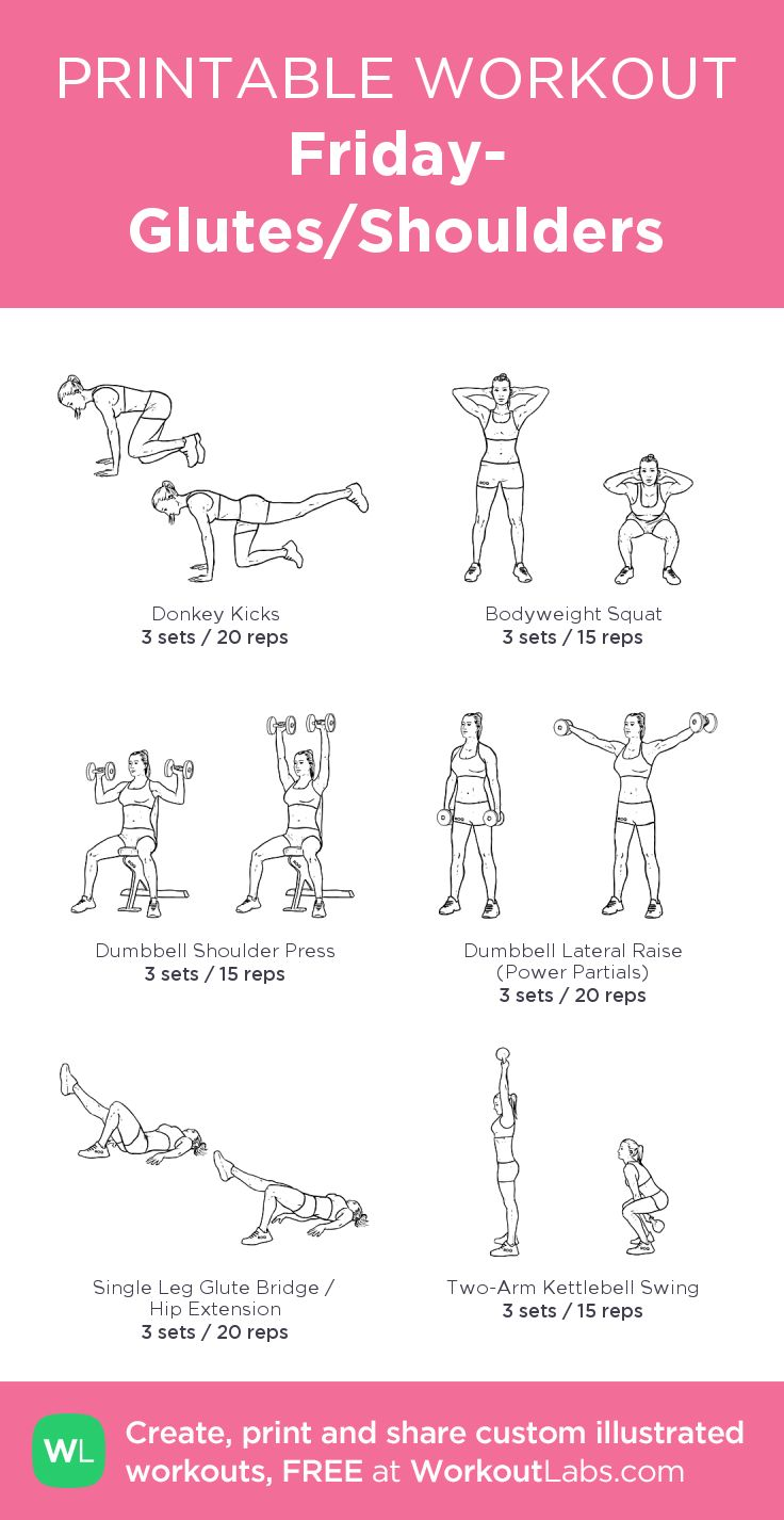 Friday- Glutes/Shoulders: my custom printable workout by @WorkoutLabs #workoutlabs #customworkout