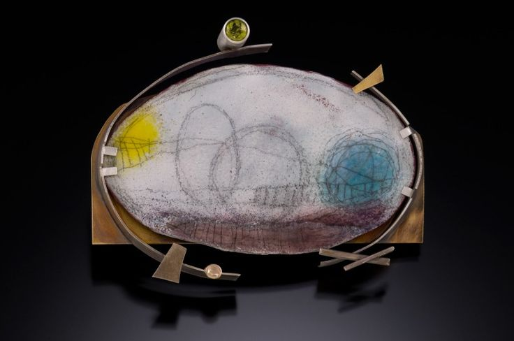 """Anne Havel     state of the earth series: nuclear winter  torch-fired enamel on copper  2012  3.5"""" x 2.5"""" x .6"""""""