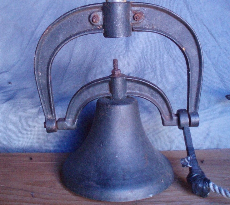 Antique Cast Iron School House Bell large FREE SHIP 230