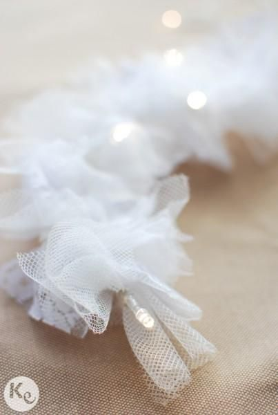 Tulle String Lights Diy : 25 best Party images on Pinterest Light garland, Marriage and Crafts