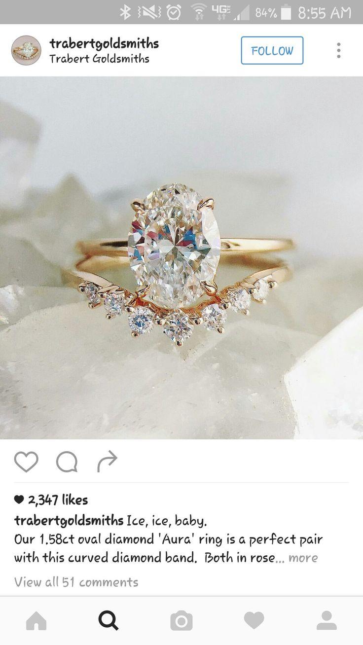 Pin By Marissa Dicamillo On Wedding Oval Diamond Ring Diamond Bands Dream Ring