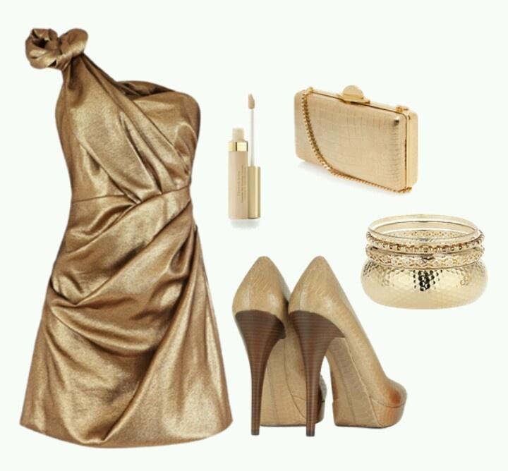 Gold & cream velvet