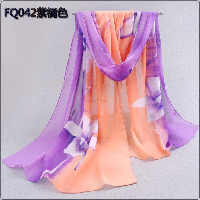 2017 Brand Woman Silk Scarf Printing Hijab Women's Scarves Fashion Chiffon Silk Scarfs Soft Shawl Scarves Wraps 160*50cm