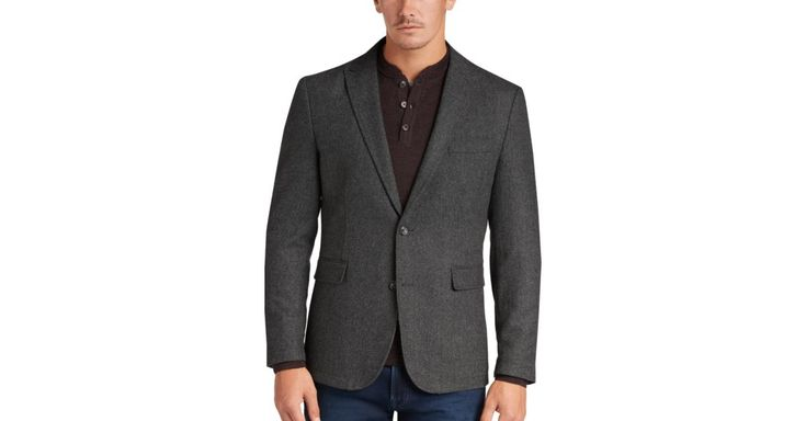 Buy a Joseph Abboud Charcoal Herringbone Modern Fit Casual Coat online at Men's Wearhouse. See the latest styles of men's Casual Coats & Jackets. FREE Shipping on orders $99+.