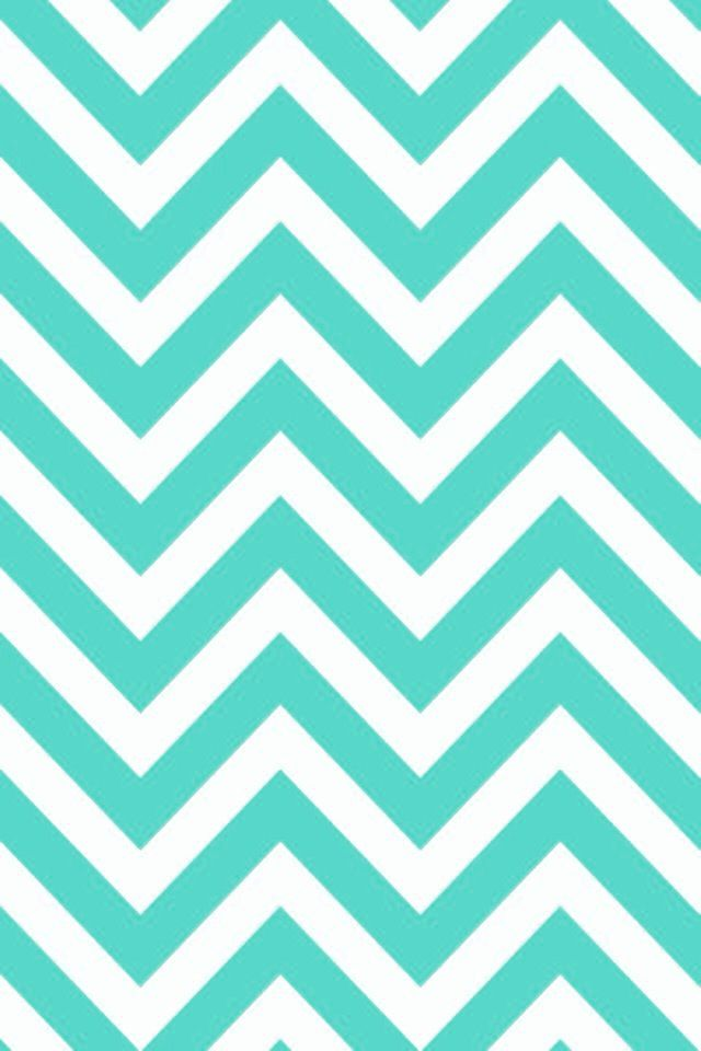 iPhone 5 Wallpaper - Turquoise Chevron
