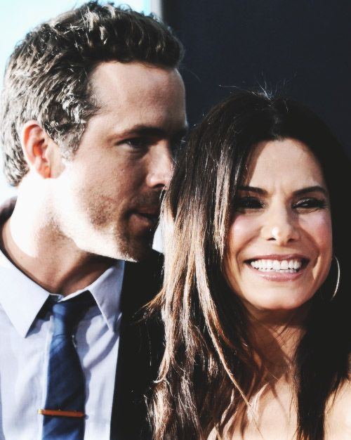 sandra bullock and ryan reynolds <3