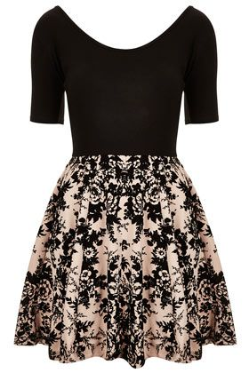 Devore Skater Dress by Annie Greenabelle by Topshop | GANDA MO AKIN KA NA LANG
