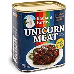 ThinkGeek Canned Unicorn Meat, 5.5 Ounce - for when regular horse meat just won't do.