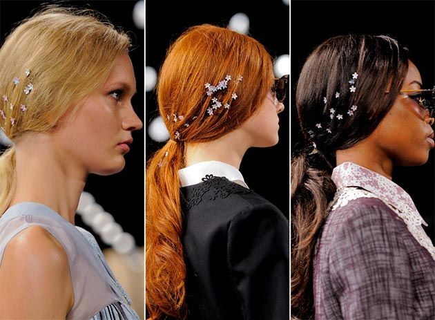 Spring/Summer 2014 Hair Accessory Trends - Tiny Flower Hair Accessories #hairaccessories