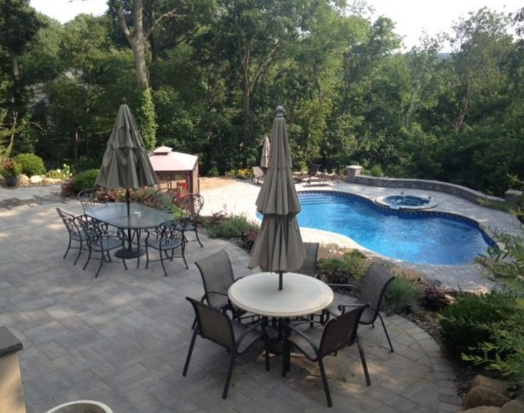 This Gorgeous Long Island, NY Pool Patio Was Created By Pool Doctor Using:  Cambridge