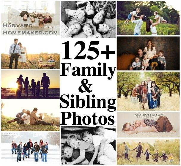 Photography Inspiration Galore!!  125+ Family and Sibling Photos.  Pose ideas, Clothing, Scenery, Tips, etc.  Lots of great shots to inspire your next photo session!