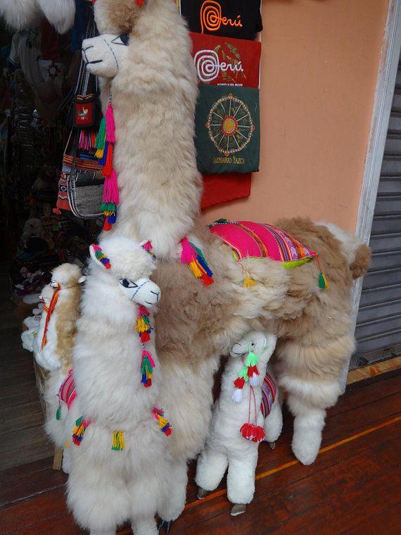 Large White Stuffy Alpaca Alpaca Fur Stuffed Animal 39 Alpaca Big