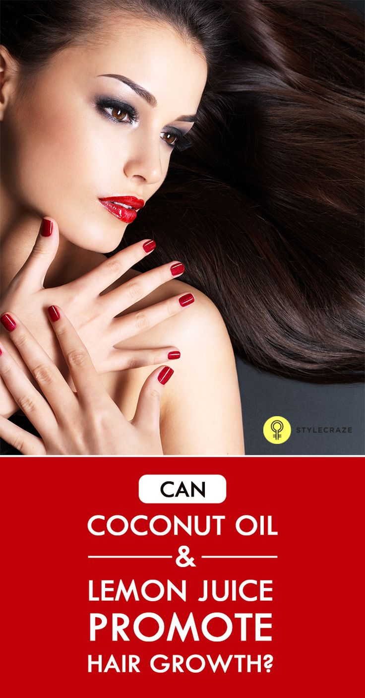 Coconut Oil And Lemon Juice For Hair Growth Is there any person who does not want lustrous and healthy hair? To improve health and appearance of hair, people go to any length nowadays.