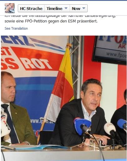 Heinz Christian Strache : 'Bei einer gemeinsamen Pressekonferenz haben Kurt Scheuch und ich heute die Verfassungsklage der Kärntner Landesregierung, sowie eine FPÖ-Petition gegen den ESM präsentiert.' - https://plus.google.com/u/0/101700768890016369861/posts | #FPÖ #hcstrache #Österreich #Wien #Vienna
