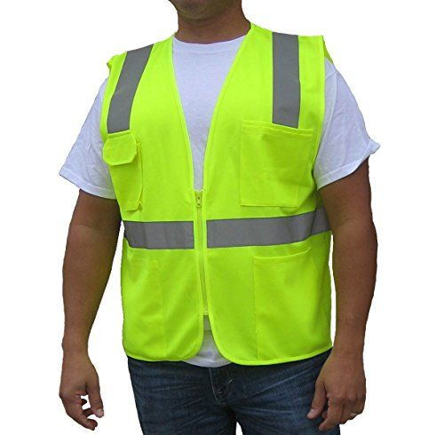 3c Products Ansi Class 2 Ultra Cool Safety Vest Neon Green