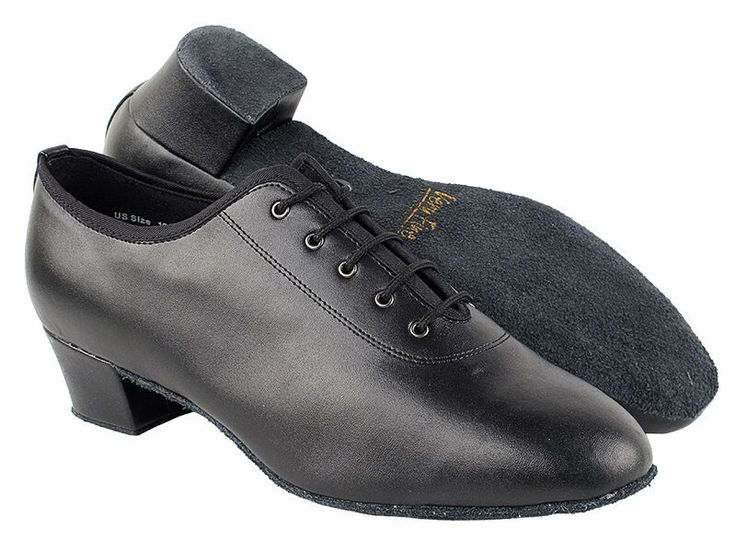 Classic Black Leather Men's Latin Shoes