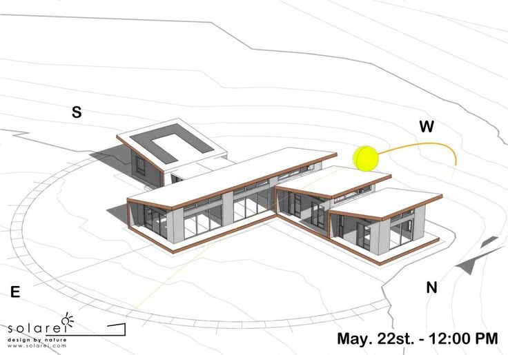 Passive solar gain optimises low angled winter sun light for natural warmth and passive heating. Concrete (thermal mass) captures and stores sunlight (radiant energy). When external temperatures begin