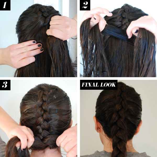 Reverse French Braid Hair How To - Braid Tutorials - Seventeen