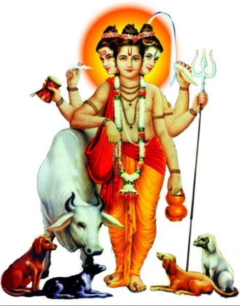 Dattatreya, Divine Incarnation of Brahma, Vishnu and Shiva