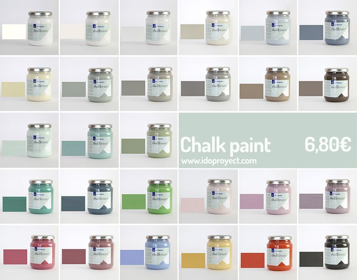 Cómo se hace la chalk paint y montones de ideas para usar esta pintura sobre madera, cartón y cerámica. Aprende todas las utilidades de pintura tan de moda.