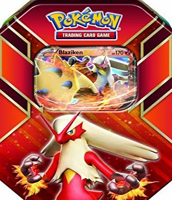 The Pokémon Company The Pokemon Company Pokemon Trading Card Game: Hoenn Power Tin - Blaziken-EX You get the tin shown above.<br /> Grass, Fire, Water-the three great powers of the Pokémon world! Choose one of the famous Pokémon of the Hoenn region to share you (Barcode EAN = 0820650166846) http://www.comparestoreprices.co.uk/latest2/the-pokémon-company-the-pokemon-company-pokemon-trading-card-game-hoenn-power-tin--blaziken-ex.asp