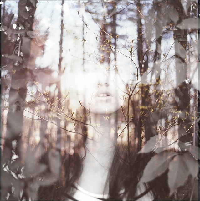 Beautiful double-exposure photograph. Created by Mtl, QC-based photographer Michelle Karpman and artist Aviva Artzy