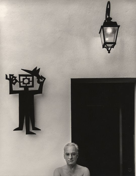 Jean Dieuzaide (1921-2003), French photographer. Self portrait at his home 1979